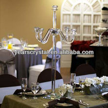 crystal table top 5 holder candelabra for events