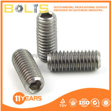 stainless steel hex socket set screws din 916