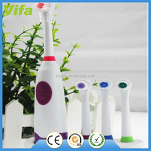 2015 waterproof battery powered electric toothbrush with holder and replace head
