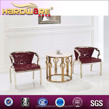 living room furniture golden stainless steel round end table