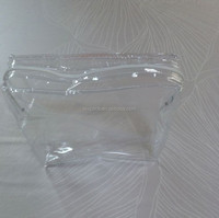 White plastic zipper PVC bag transparent for bedsheets