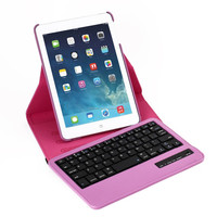 New PU Rotating Case Cover with Bluetooth Keyboard For iPad Mini 1/2/3