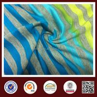 60% Cotton 40% Polyester CVC Knit Jersey Stripe Fabric