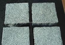 G612 Flamed Green Granite Walking Street Floor Cube Stone Paving Block