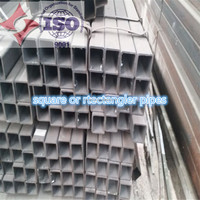 Rectangular welding steel pipe / supply rectangular pipe / square tube for construction material