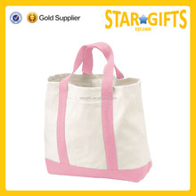 Manufacturer Pink Printed Blank Beach Canvas Custom Tote Bag