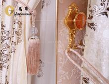 el gusto elegante de lujo jacquard cortinas para el salón