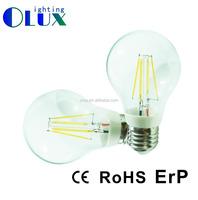 Cool white Color 6000K E27 B22 360 Degree 4W 6W 8w A60 A19 Led Filament Bulb