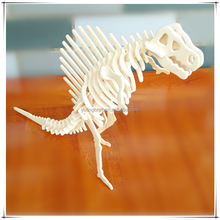 Spinosaurus Shaped Wooden Puzzle Cubic fun 3D Puzzle Wholesale Educational Toy Dinosaur Toys