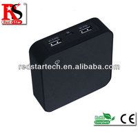 HOT!!4400mAh 5200mAh LED Portable USB mobile power station for Iphone/Samsung/Smartphone