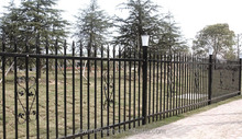 Cheap wrought iron fence/ wrought iron fence designs/ pvc coated ornamental wrought iron fence