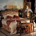 2 metros grande cama de luxo móveis de madeira maciça