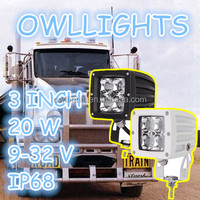 Efficient product!20w led driving light 4X4 accessories 20w 3 inch Square led work light for motorcycle trailer truck tractor