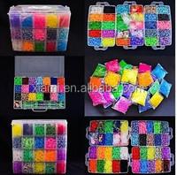 25000/20000 / 15000 /12000/9000/5400/ 4200 /3600/2400/ 600 per box elastics rainbow band bracelet loom kit