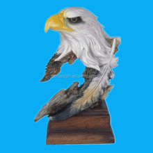 custom hand painted decorative resin eagle statue