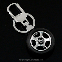 Tire-shaped Keychain For Car Auto Part Styling Keyring German Opel Car Logo Keychain Wholesale