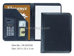 promotional office customer gifts pu leather organizer A4 portfolio