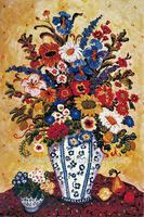 Famous Artist Favorite Blue and White Flora Oil Paintings