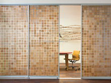 Modern trend interior decoration: Mosaics sliding door, resin mosaics laminated glass petg panel, long life and water proof
