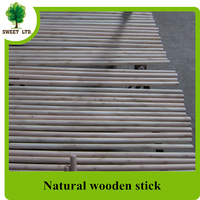 Eucalyptus natural wooden pole for broom and mop