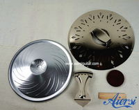 China Aiersi Chrome-plated Copper resonator guitar coverplate ,cone and biscult for sale
