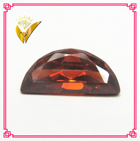 garnet loose half moon cut top quality semi precious stone