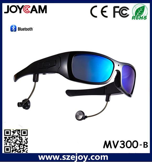 2015 nuevo diseño DVR gafas de sol Bluetooth Mini cámara inalámbrica con precio de fábrica
