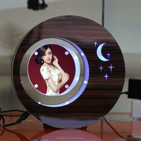 2 sides LED suspending in the air magnetic levitation photo frame unique cute amothers day gift