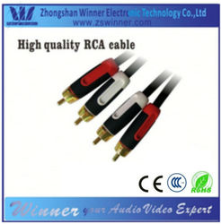 High-quality double shielded rca cable plug to plug