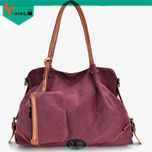 2015 latest arrival wholesale daily use leisure fashionable canvas wide strap shoulder bag women colorful style nice design