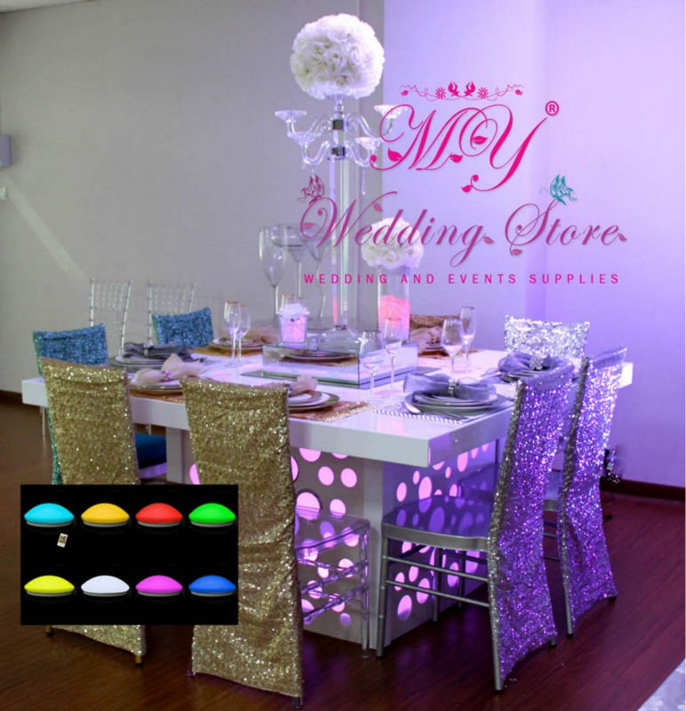 led under table decoration wedding light view wedding decoration my