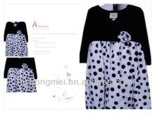 2012 girls' long sleeve party flower dress
