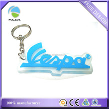 small quantity transparent soft pvc rubber motorcycle keyring promotion gifts