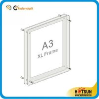 2015 new products A3 A4 A5 5*7 acrylic transparency picture photo frame with screw