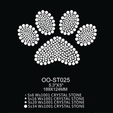 Shinning Clear Cat Paw Print Design Scooter Stickers