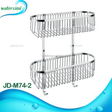 Hot selling bathroom accessories bathroom two layer wire basket JD-M74-2