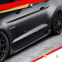 Carbon Fiber Body Kit Front Rear Bumper Lip Side Skirts For Ford Mustang GT 2015 2016 Car Styling Body Kit