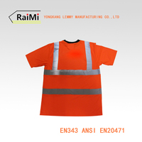 high visibility motorcycle or running wholesale safety reflective tshirt from china