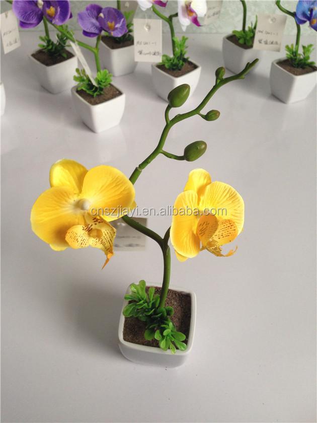 Haute qualit mini pot papillon orchid e fleur pas cher en for Fleurs artificielles en pot pas cher