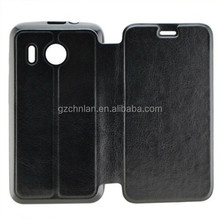 2014 hot selling flip leather case for huawei y320 flip case cover with tpu gel inside
