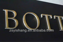 High quality metal 3d stainless steel letter sign with yishang