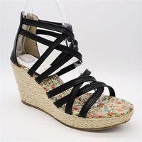 China Comfortable no heel crystal wedge