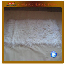 wholesale straight Long Hair dyed goat skin plate