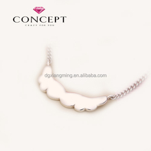 The wings of an angel silver Neckalce For Baby Kids Gift Jewelry