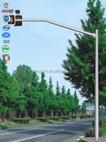 Hot dipped galvanized steel leading single pole street signal post