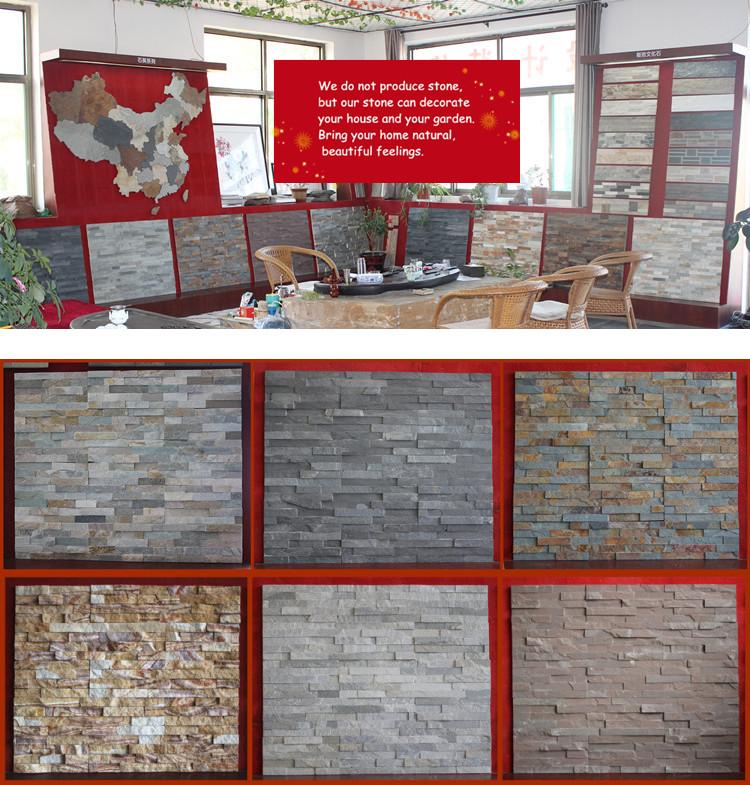 Interno esterno muro di pietra decorativa naturale pietra della ...