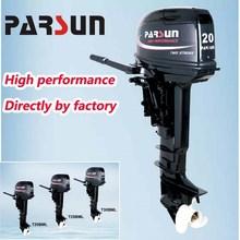 20hp 2-stroke outboard engine / tiller control / manual start / long shaft / T20BML / PARSUN