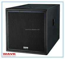 18 inch professional loudspeaker passive subwoofer