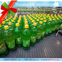 Auto 3 in 1 soft making filling line plant/carbonated soft drink filling machine (CC)