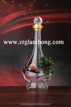 grado superiore ultimo piacevole stile di bottiglia di vetro con motivo floreale